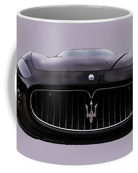 Outdoors Coffee Mug featuring the photograph Maserati Granturismo I by Paulette B Wright