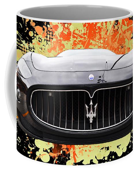 Outdoors Coffee Mug featuring the photograph Maserati Granturismo I V by Paulette B Wright