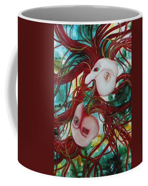 Masks Coffee Mug featuring the painting Masks IIi by Lord Frederick Lyle Morris