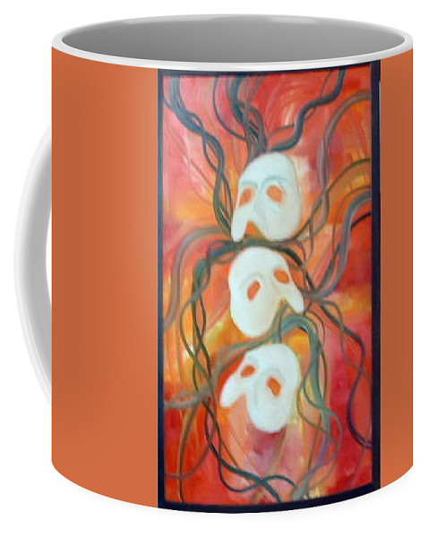 Masks Coffee Mug featuring the painting Masks Vii by Lord Frederick Lyle Morris