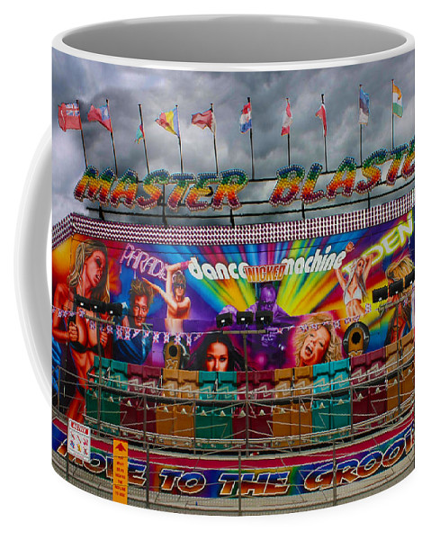 Funfair Ride Coffee Mug featuring the photograph Master Blaster All The Fun Of The Fair by Terri Waters