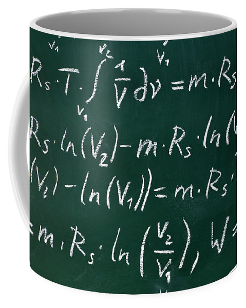 Mathematics Coffee Mug featuring the photograph Mathematics by Chevy Fleet