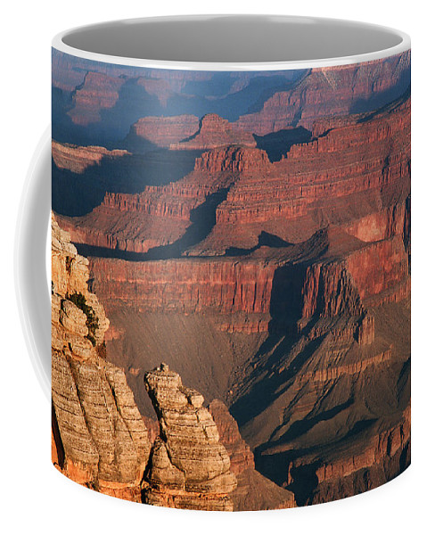 Grand Canyon Coffee Mug featuring the photograph Mather Point At Sunrise On The Grand Canyon by Greg Matchick