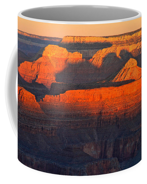 Arizona Coffee Mug featuring the photograph Mather Point Sunrise Grand Canyon National Park by Ed Riche