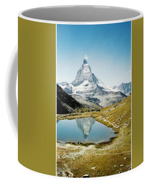 Alps Coffee Mug featuring the photograph Matterhorn Cervin Reflection by Mary Ellen Mueller Legault