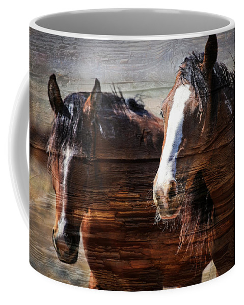 Horses Coffee Mug featuring the photograph Mavericks by Athena Mckinzie