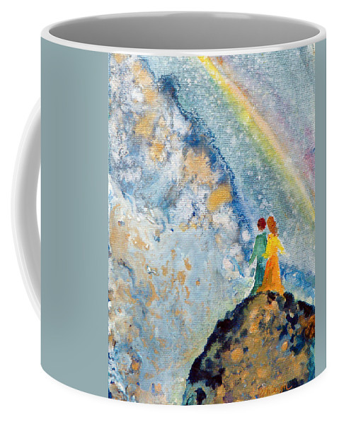 Friendship Coffee Mug featuring the painting May Our Sight by Ashleigh Dyan Bayer