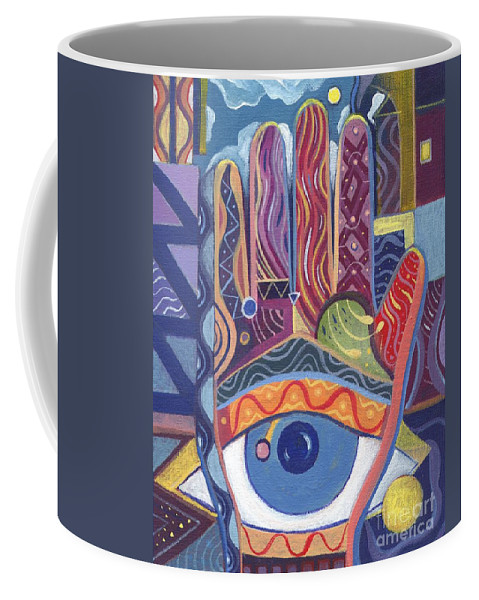Visions Coffee Mug featuring the painting May You Realize Your Dreams by Helena Tiainen