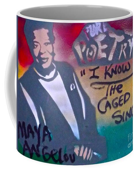 Maya Angelou Coffee Mug featuring the painting Maya Angelou by Tony B Conscious