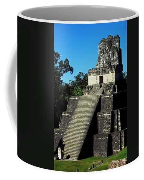 Guatemala Coffee Mug featuring the photograph Mayan Ruins - Tikal Guatemala by Juergen Weiss