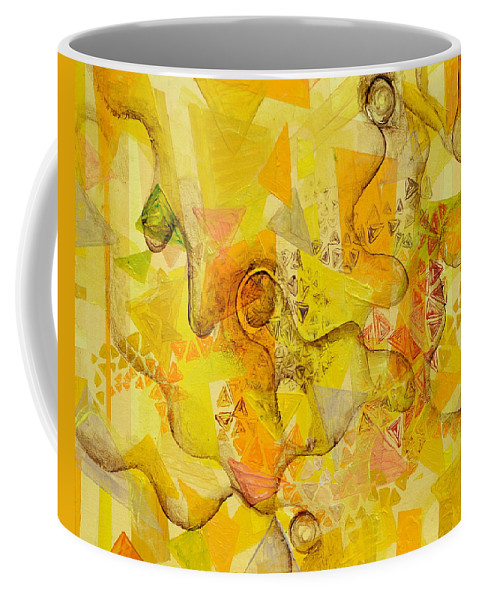 Melody Coffee Mug featuring the painting Meandering Melody by Regina Valluzzi