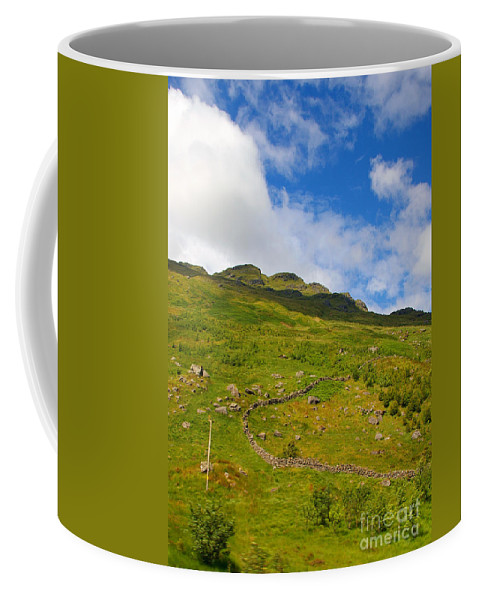 Stone Wall Coffee Mug featuring the photograph Meandering Wall by Nancy L Marshall