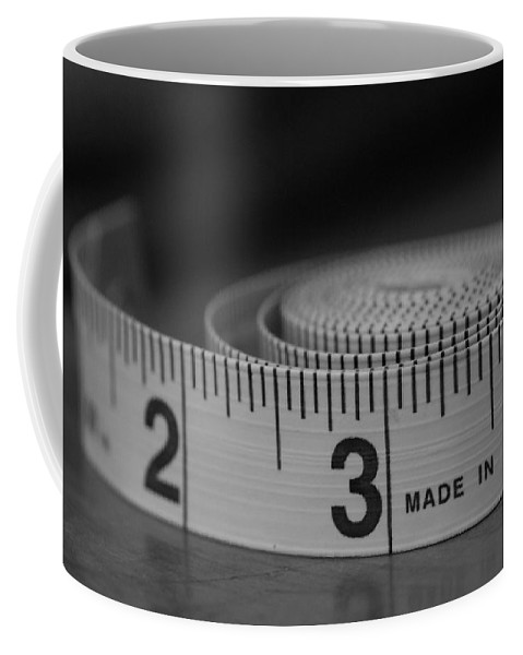 Tape Measure Coffee Mug featuring the photograph Measuring Up by Jan M Holden