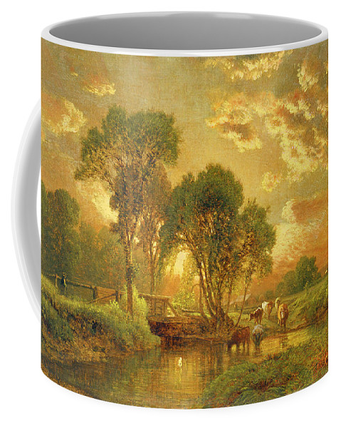 Inness Coffee Mug featuring the painting Medfield Massachusetts by Inness