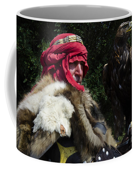 Eagle Coffee Mug featuring the photograph Medieval Barbarian Artur And Spirit by Bob Christopher