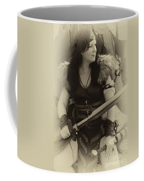 Barbarian Woman Coffee Mug featuring the photograph Medieval Barbarian Eriana Iceni 2 by Bob Christopher