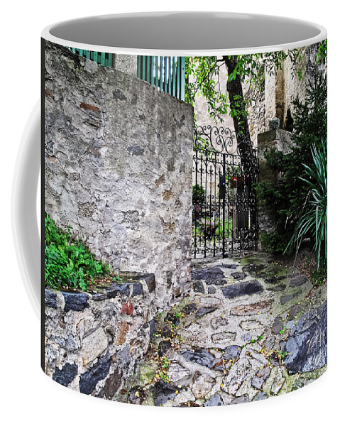 Travel Coffee Mug featuring the photograph Medieval Garden by Elvis Vaughn