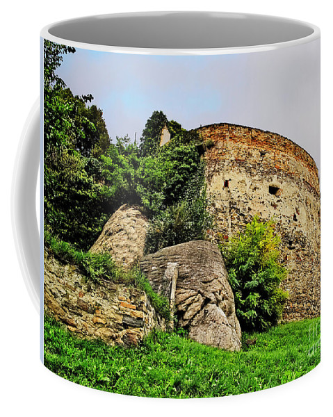 Travel Coffee Mug featuring the photograph Medieval Tower by Elvis Vaughn