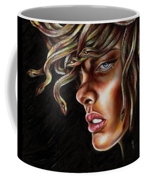 Medusa Coffee Mug featuring the painting Medusa No. One by Hiroko Sakai