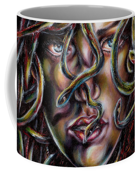 Medusa Coffee Mug featuring the painting Medusa No. Three by Hiroko Sakai