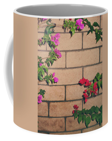 Flowers Coffee Mug featuring the photograph Meet In The Middle by Laurie Search