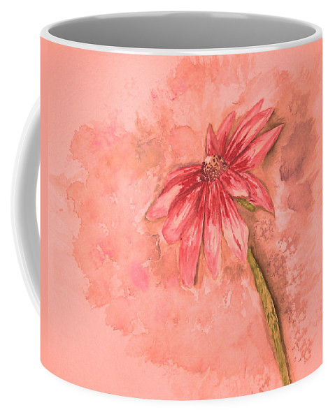Watercolor Coffee Mug featuring the painting Melancholoy by Crystal Hubbard