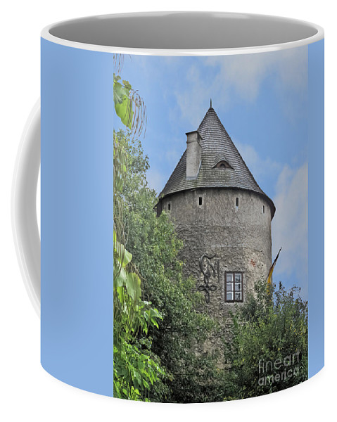 Travel Coffee Mug featuring the photograph Melk Medieval Tower by Elvis Vaughn
