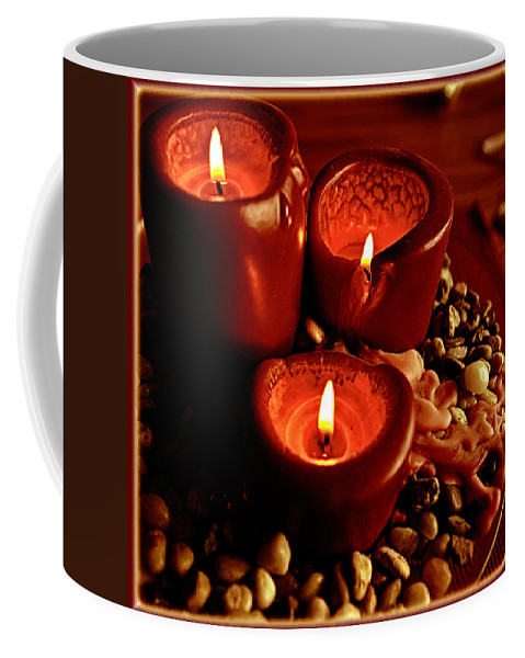 Candles Coffee Mug featuring the photograph Melted Candles by Sennie Pierson