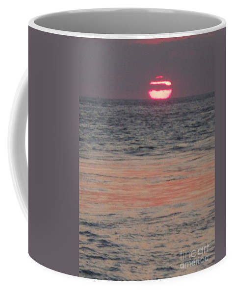 Photography Coffee Mug featuring the photograph Melting Sun Into The Cool Sea by Eric Schiabor