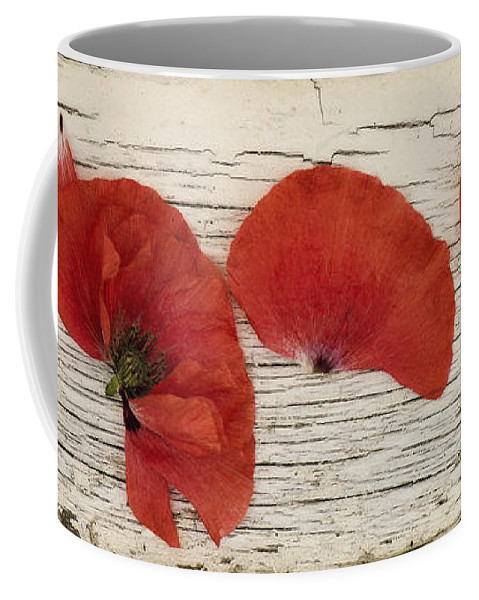 Popppy Coffee Mug featuring the photograph Memories Of A Summer Horizontal by Priska Wettstein