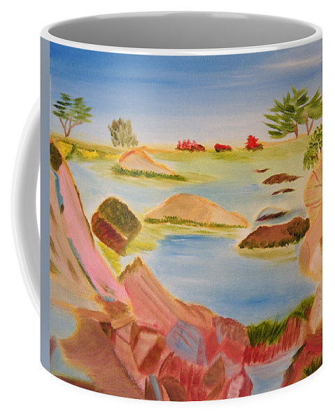 Cove Coffee Mug featuring the painting Memories Of Monterey by Meryl Goudey