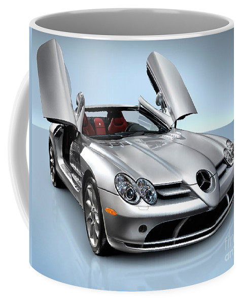 Mercedes Coffee Mug featuring the photograph Mercedes Benz Slr Mclaren by Oleksiy Maksymenko