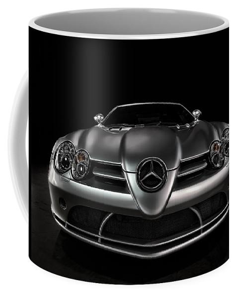 Mercedes Coffee Mug featuring the digital art Mercedes Mclaren Slr by Douglas Pittman