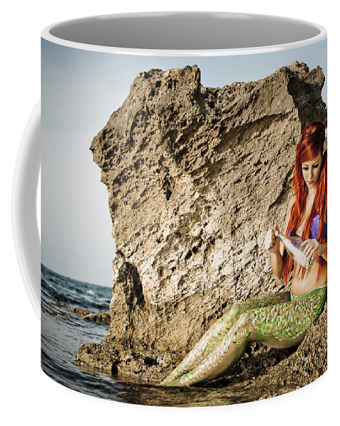 Creativity Coffee Mug featuring the photograph Mermais Sighting 1 by Guy Viner
