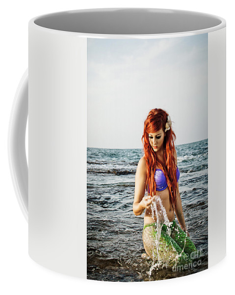 Creativity Coffee Mug featuring the photograph Mermais Sighting 2 by Guy Viner