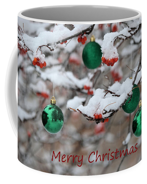 Christmas Coffee Mug featuring the photograph Merry Christmas 3 by Whispering Peaks Photography