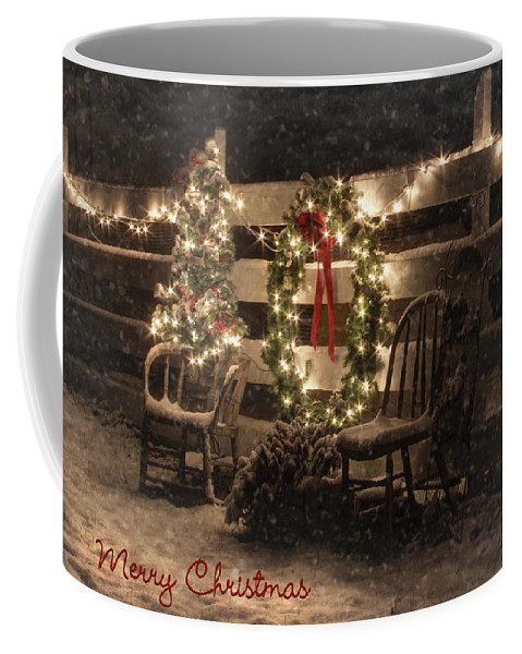 Christmas Coffee Mug featuring the photograph Merry Christmas To All by Lori Deiter