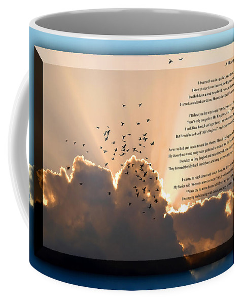 Message From Heaven Coffee Mug featuring the photograph Message From Heaven by Carolyn Marshall