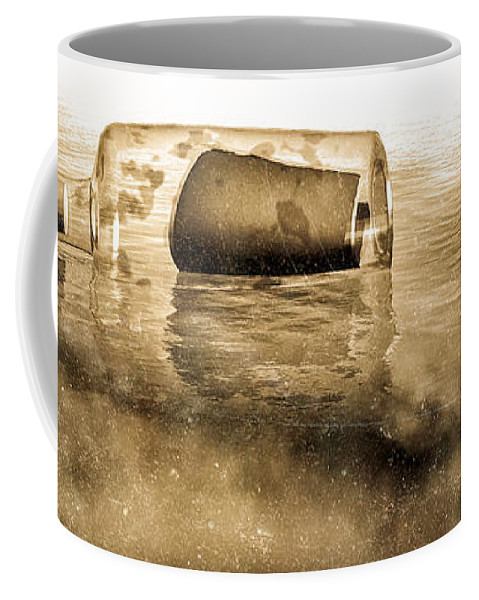 Seascape Coffee Mug featuring the photograph Message In A Bottle by Bob Orsillo