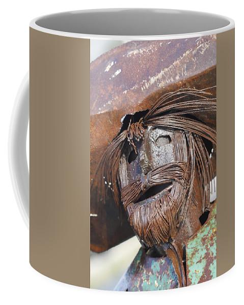 Metal Coffee Mug featuring the photograph Metal Amigo by Kathy Clark
