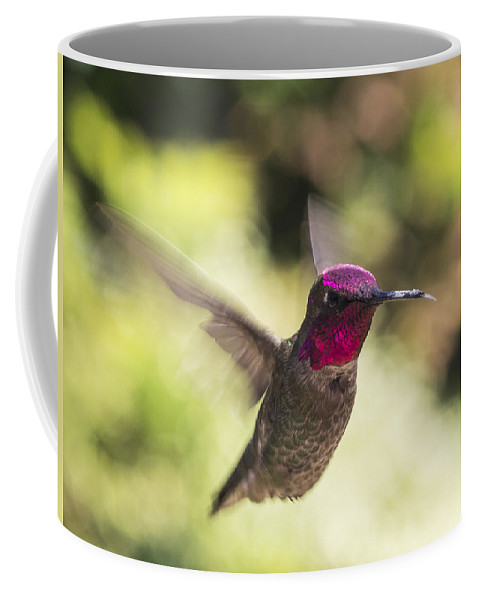 Iridescent Coffee Mug featuring the photograph Metallic Red Head by Mike Herdering
