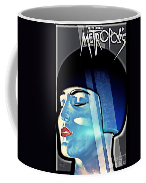 Metropolis Coffee Mug featuring the digital art Metropolis by Mo T