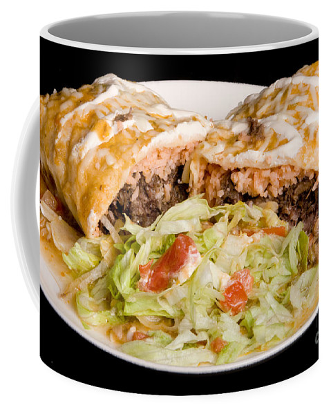 Burrito Coffee Mug featuring the photograph Mexican Burrito Plate 2 by James BO Insogna