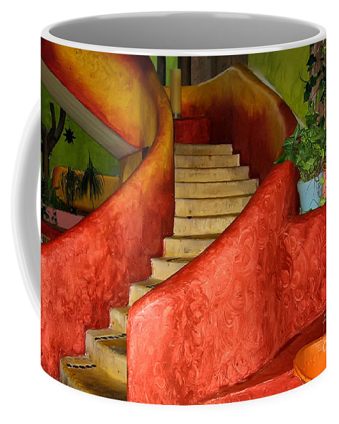 Steps Coffee Mug featuring the photograph Mexican Colors by Teresa Zieba