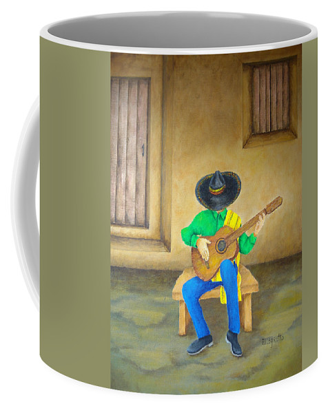 Pamela Allegretto Coffee Mug featuring the painting Mexican Serenade by Pamela Allegretto