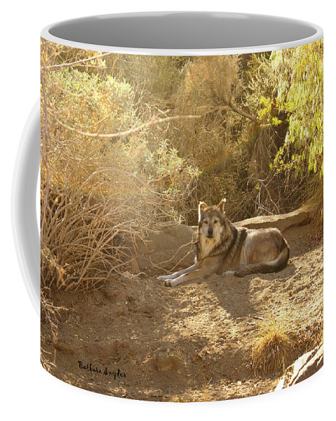 Mexican Wolf Coffee Mug featuring the digital art Mexican Wolf by Barbara Snyder