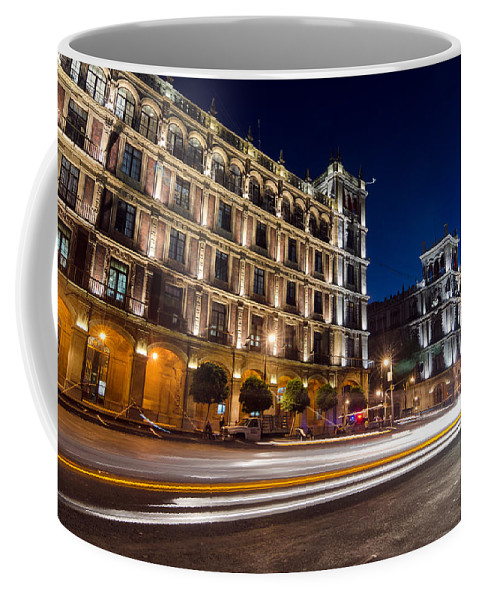 Mexico Coffee Mug featuring the photograph Mexico City At Night by Jess Kraft