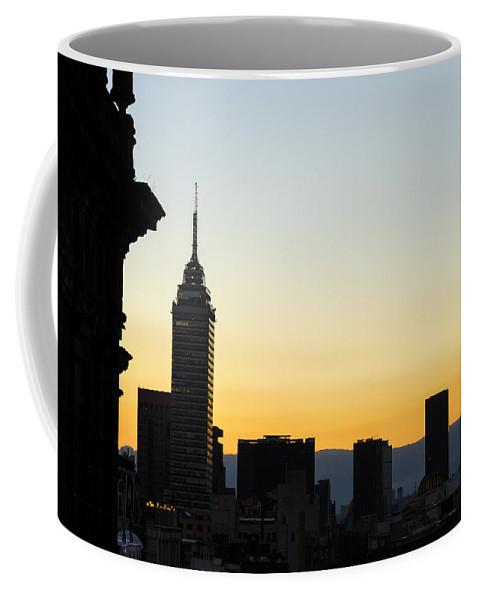 City Coffee Mug featuring the photograph Mexico City Skyline Silhouette by Jess Kraft