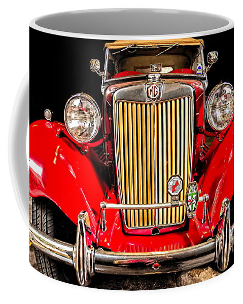 Mg Coffee Mug featuring the photograph Mg Convertible by Kathleen K Parker