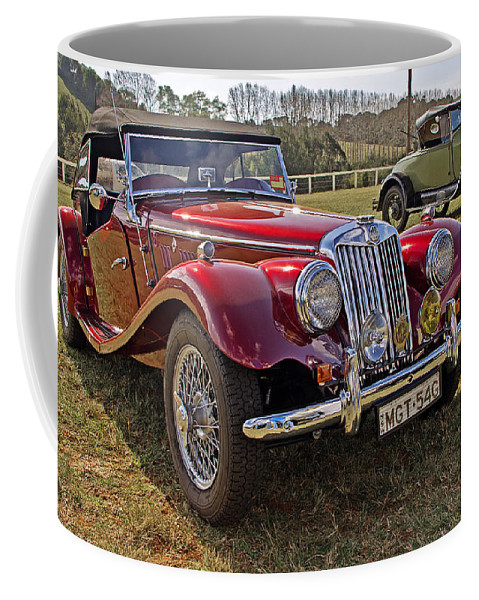 Cars Coffee Mug featuring the photograph Mg Model Tf 1953 And Ford Model A 1928 Roadsters by Tony Crehan